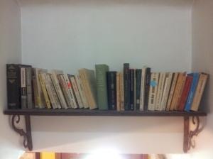 bookshelf over stairs